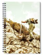 Rock Climbing Mountaineer Spiral Notebook