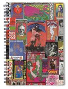 Rock Concert Posters Collage 1 Spiral Notebook