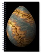 Rock Egg With Warm Yellow Lines Spiral Notebook
