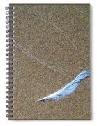 Rock Feather Glass Spiral Notebook