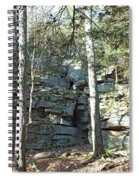 Rock Formation 3 - Ricketts Glen Spiral Notebook