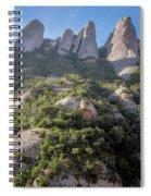 Rock Formations Montserrat Spain Spiral Notebook