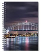Rock Into The Night Spiral Notebook