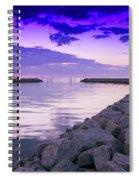 Rock Jetty Sunrise Spiral Notebook
