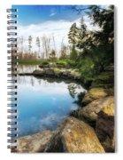 Rock Lined Pond Spiral Notebook