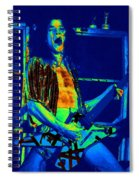 Rock 'n' Roll The Cosmic Blues Spiral Notebook