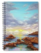 Rock Pools, Seascape Spiral Notebook