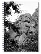 Rock Spirits At Yosemite B And W Spiral Notebook