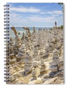 Rock Structures On Lake Michigan Spiral Notebook