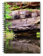 Rock Wall Reflections Spiral Notebook