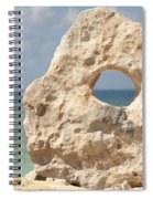 Rock With A Hole With A Tropical Ocean In The Background. Spiral Notebook