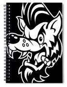 Rockabilly Wolf Head Spiral Notebook