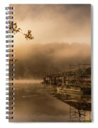 Rockaway Beach Dock 2 Spiral Notebook