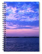 Rockaway Point Dock Sunset Violet Orange Spiral Notebook