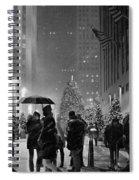 Rockefeller Center Christmas Tree Black And White Spiral Notebook