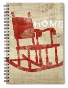 Rocking Chair Home- Art By Linda Woods Spiral Notebook