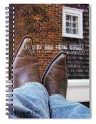 Rocking Kicks Quote Spiral Notebook