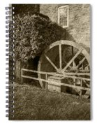 Rockland Grist Mill - Sepia Spiral Notebook