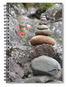Rocks And Roses Spiral Notebook
