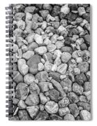 Rocks From Beaches In Black And White Spiral Notebook