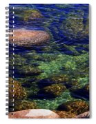 Rocks Ripples And Reflections Spiral Notebook