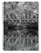 Rocks Village Bridge In Black And White Spiral Notebook