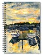 Rocktide Sunset Spiral Notebook