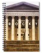 Rocky Balboa On The Art Museum Steps Spiral Notebook