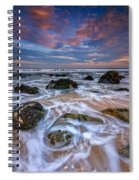 Rocky Beach At Sandy Hook Spiral Notebook