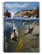 Rocky California Shore Spiral Notebook