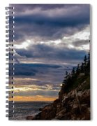 Rocky Cliffs Below Maine Lighthouse Spiral Notebook