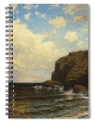 Rocky Coast With Breaking Wave Spiral Notebook
