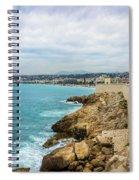 Rocky Coastline In Nice, France Spiral Notebook