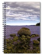 Rocky Cove In Sydney British Columbia Spiral Notebook