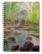 Rocky Creek In The Catskills  Spiral Notebook