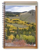 Rocky Mountain Autumn Picture Window View Spiral Notebook