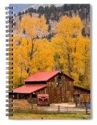 Rocky Mountain Autumn Ranch Landscape Spiral Notebook