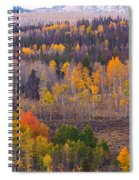 Rocky Mountain Autumn View Spiral Notebook