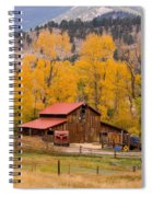 Rocky Mountain Barn Autumn View Spiral Notebook