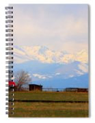 Rocky Mountain Boulder County View Spiral Notebook
