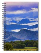 Rocky Mountain Cloud Layers Spiral Notebook