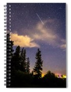 Rocky Mountain Falling Star Spiral Notebook