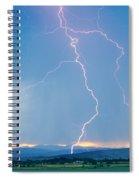 Rocky Mountain Front Range Foothills Lightning Strikes 1 Spiral Notebook