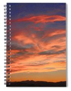 Rocky Mountain Front Range Sunset Spiral Notebook