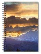 Rocky Mountain Springtime Sunset 3 Spiral Notebook