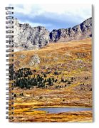 Rocky Mountain Tundra And Lake Spiral Notebook