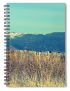 Rocky Mountain Twin Peaks Wood Fence View Spiral Notebook