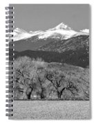 Rocky Mountain View Bw Spiral Notebook