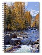 Rocky Mountain Water 8 X 10 Spiral Notebook