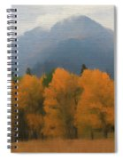 Rocky Mountains Colorado Autumn  Spiral Notebook